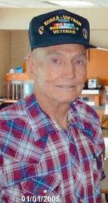 Thurman Cousins in 2005 wearing a Korean War and Vietnam War Veterans hat