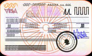 Grapphic of a generic visa