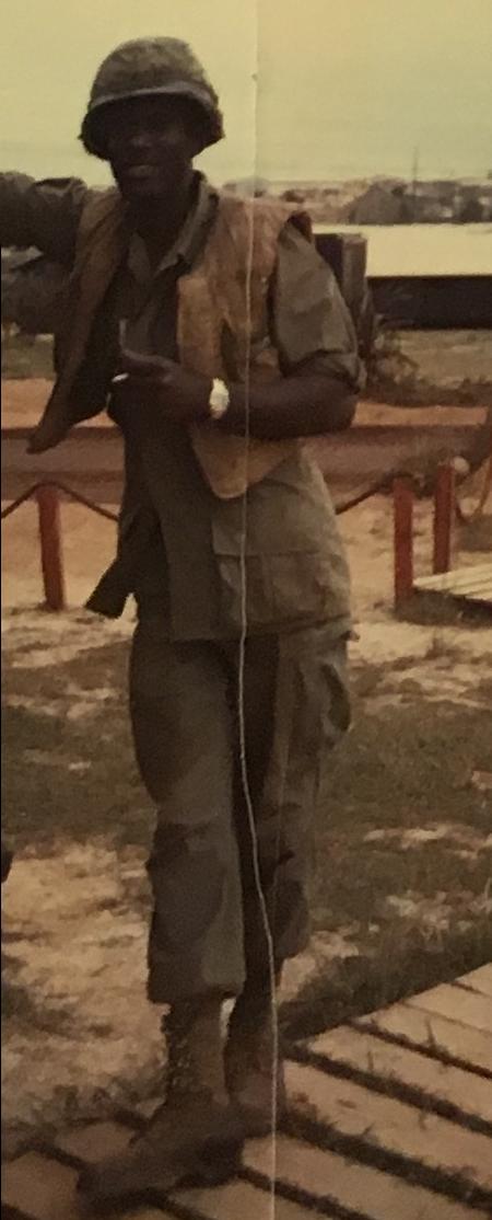 Adam Joseph in uniform in Vietnam