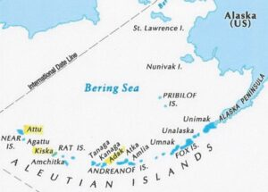Map of the Aleutian Islands