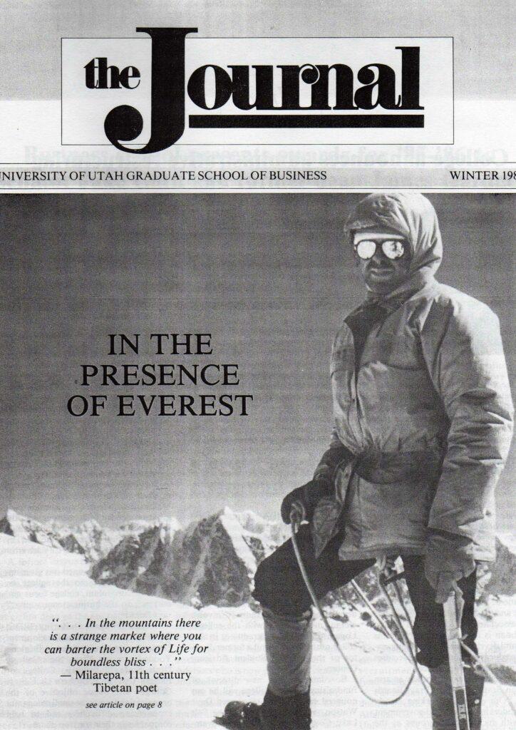 John Heimburger on the summit of Imje Tse near Mount Everest