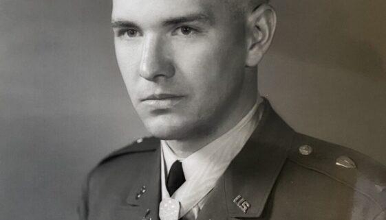 Joe Marm Wearing the Medal of Honor