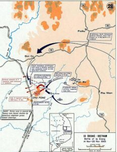 Map of Battle of Ia Drang