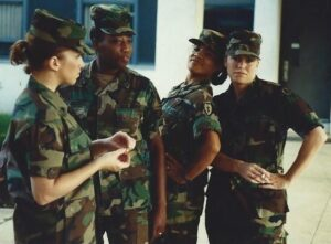 Alice (second from left) and other NCO's at BNCOC