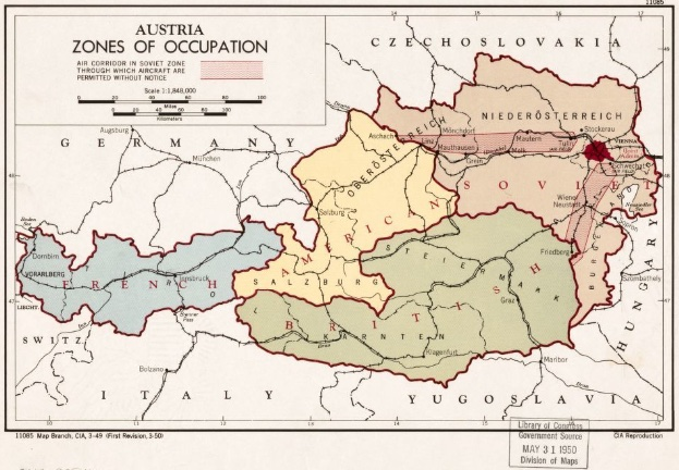 CIA Map of Austria Occupation Zones Source: Library of Congress