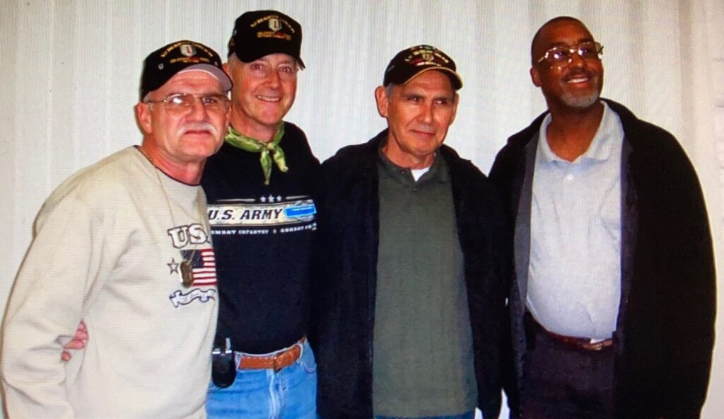 Dave Himmer with 3 Alpha Company Buddies at Reunion