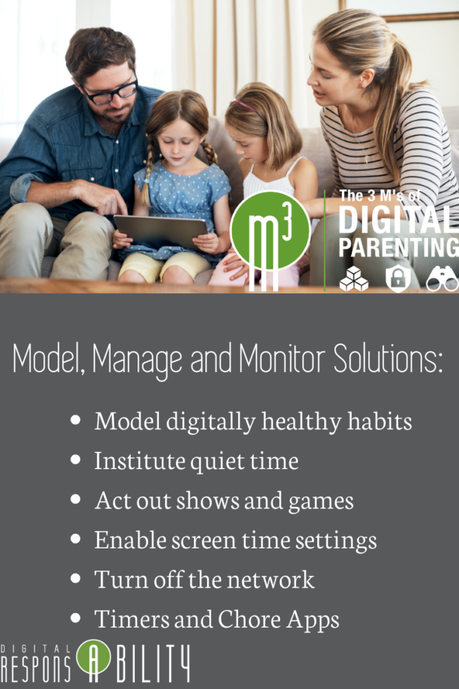screen time model manage monitor
