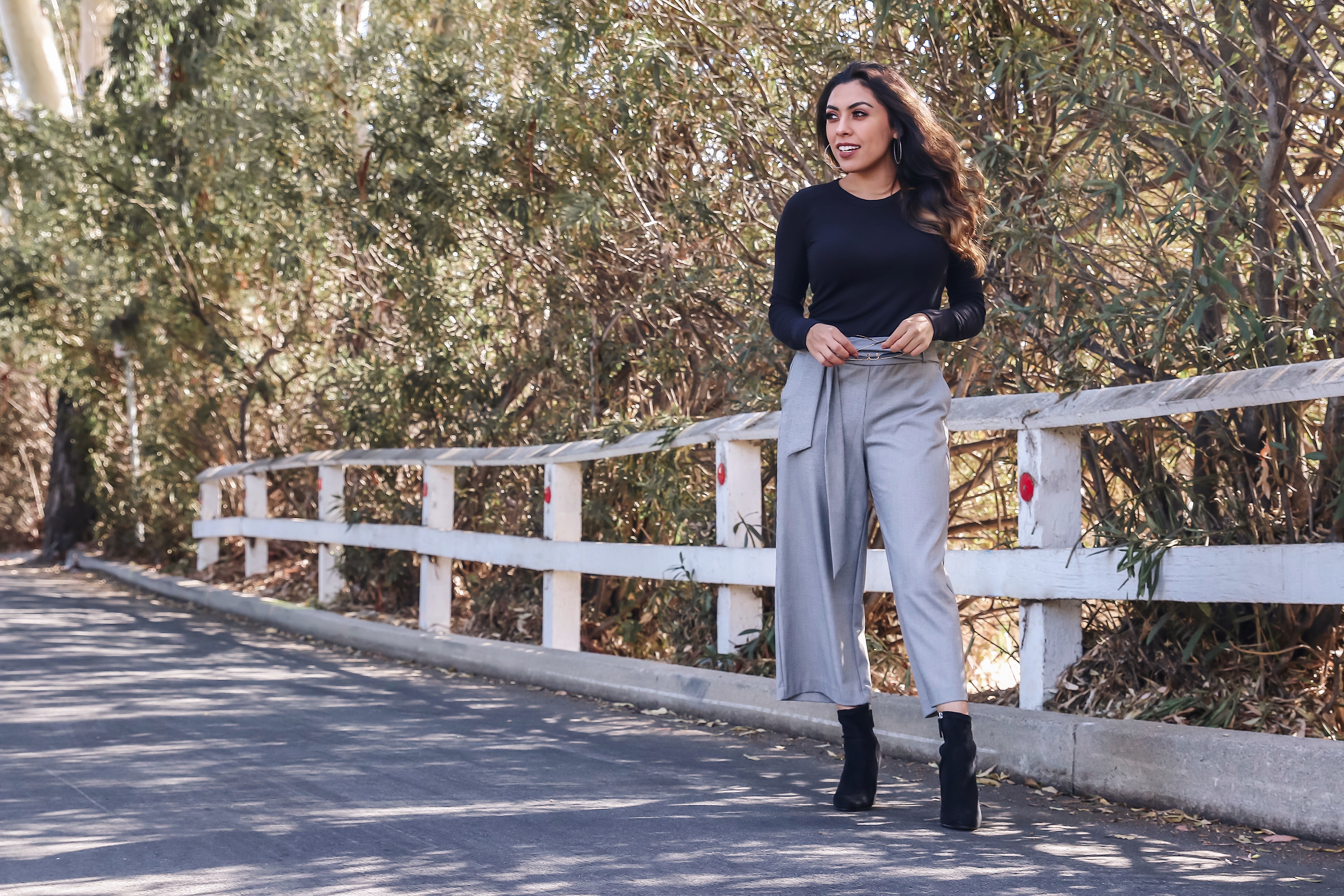 Alexis Alcala in culottes in the fall