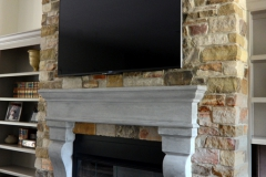 Wisconsin veneer indoor fireplace