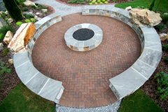Fire Pit and Stone Seating Walls