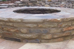 Six foot mortared firepit
