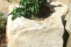 Sandstone boulder planter
