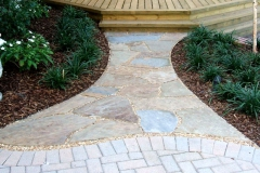 Hourglass path to deck