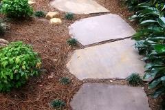 Meandering yard path