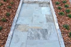 Ashlar path with granite edging