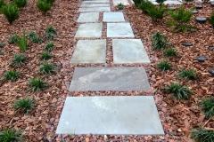 Cut blue stone stepping path (alternate view)