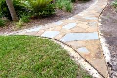 Back yard stone path