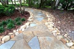 Natural stone garden pathway