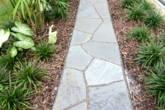 Gray flagstone with pink granite