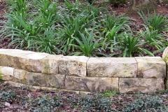 Florida limestone dry-stack wall