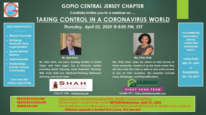 Corona Virus – Taking Control