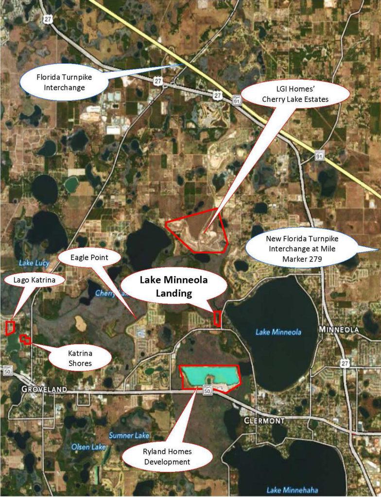 Photo: Lake Minneola Landing location map