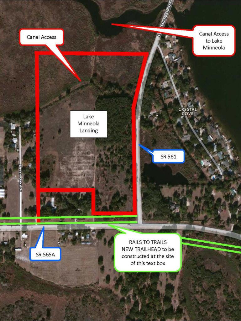 Photo: Lake Minneola Landing detail map