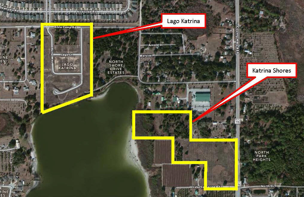 Photo: Lago Katrina and Katrina Shores site map update 072014