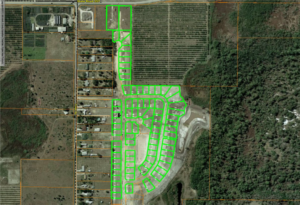 Lake Alfred Estates subdivision photo with graphic overlay