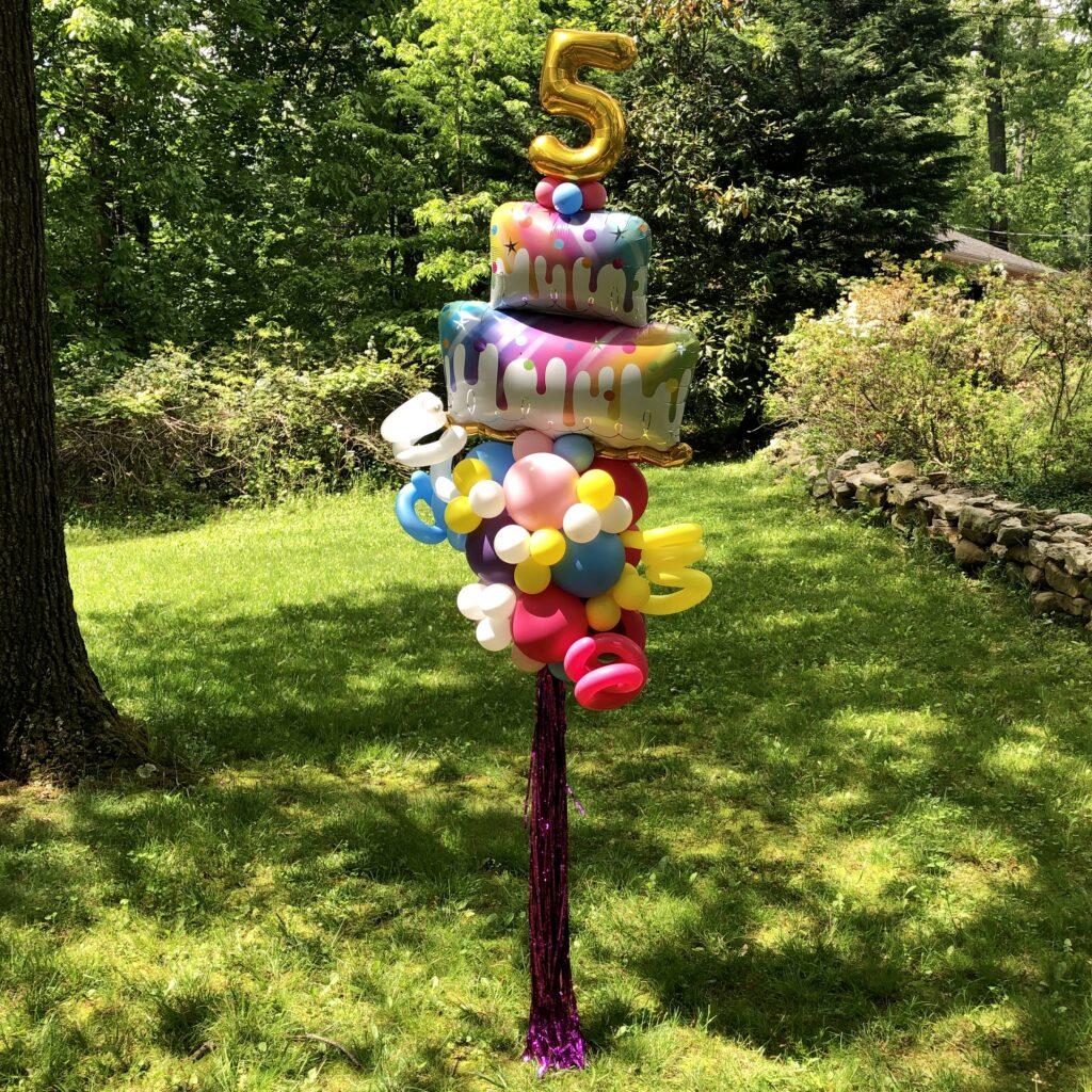 Balloon Birthday Cake Deliery