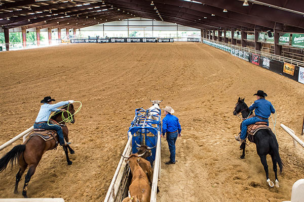 Roping at the NRS Arena