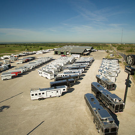 17 acres of in-stock Trailers & RV's