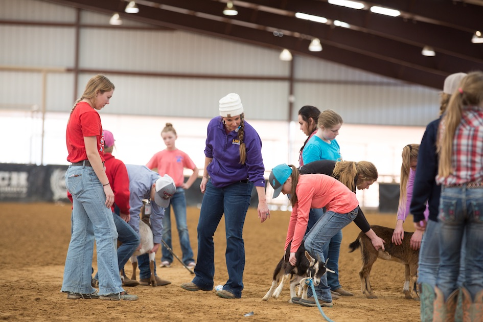 Stacey Martin at the NRS Goat Tying Clinic