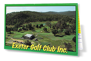 Exeter Golf Club Score Card