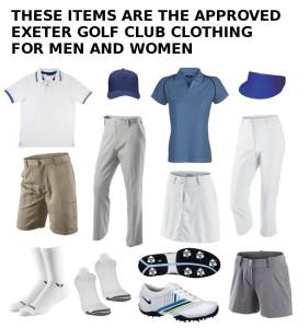 Exeter Golf Club Dress Code