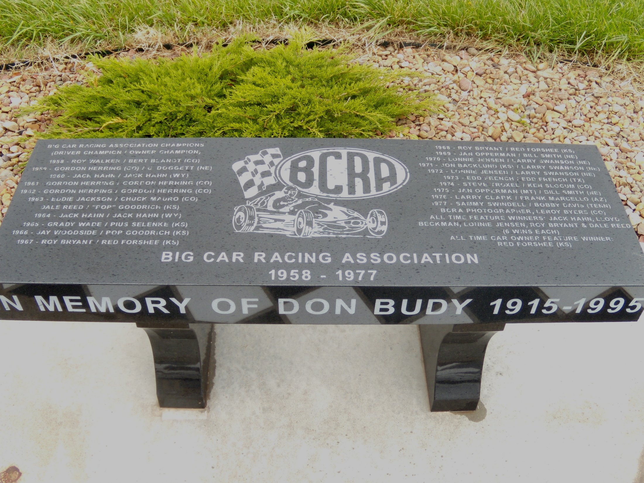 BCRA Commemorative Bench - Belleville, Ks