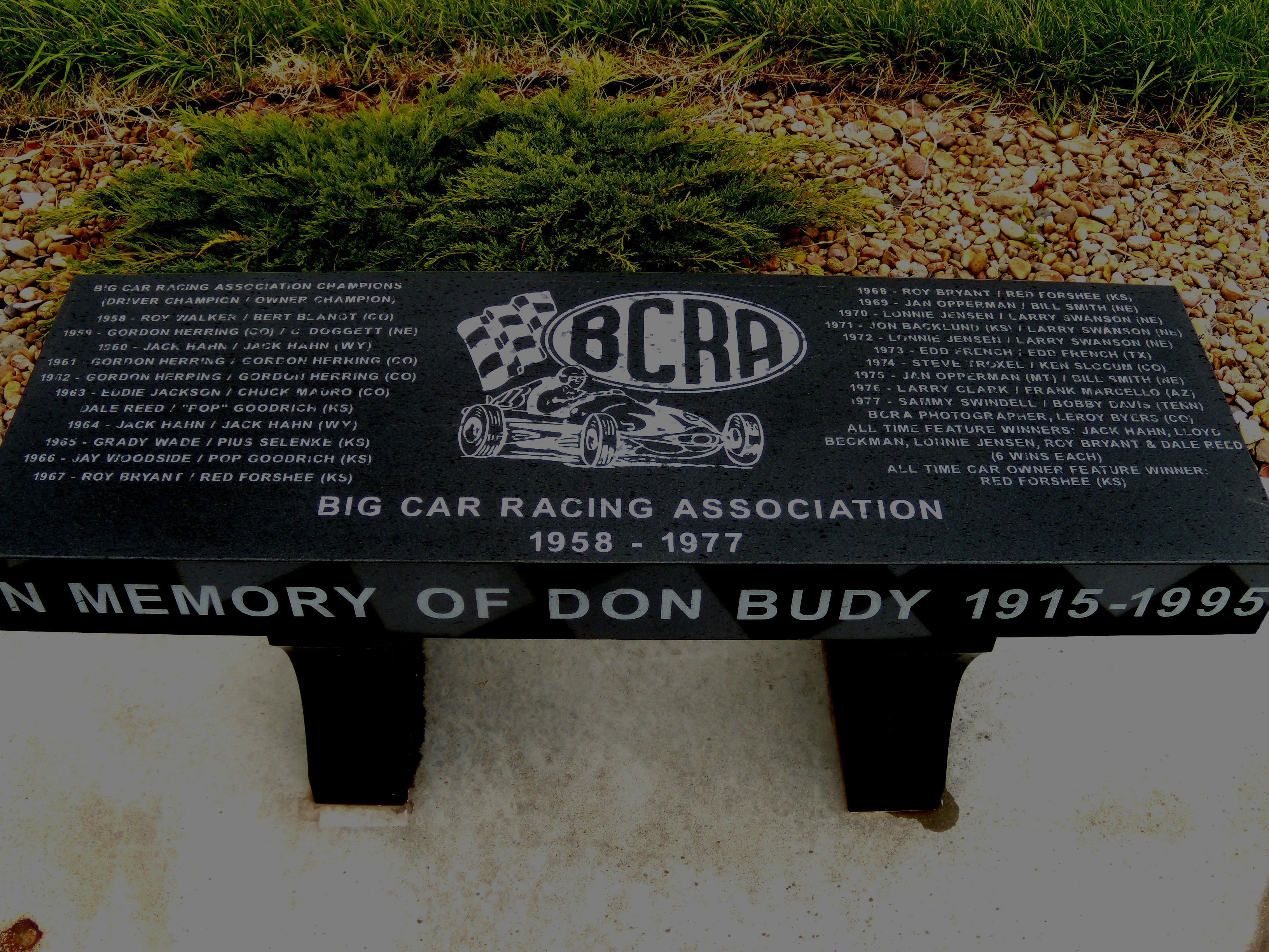 Revised commemorative bench on winners circle belleville ks 1DSCN1049