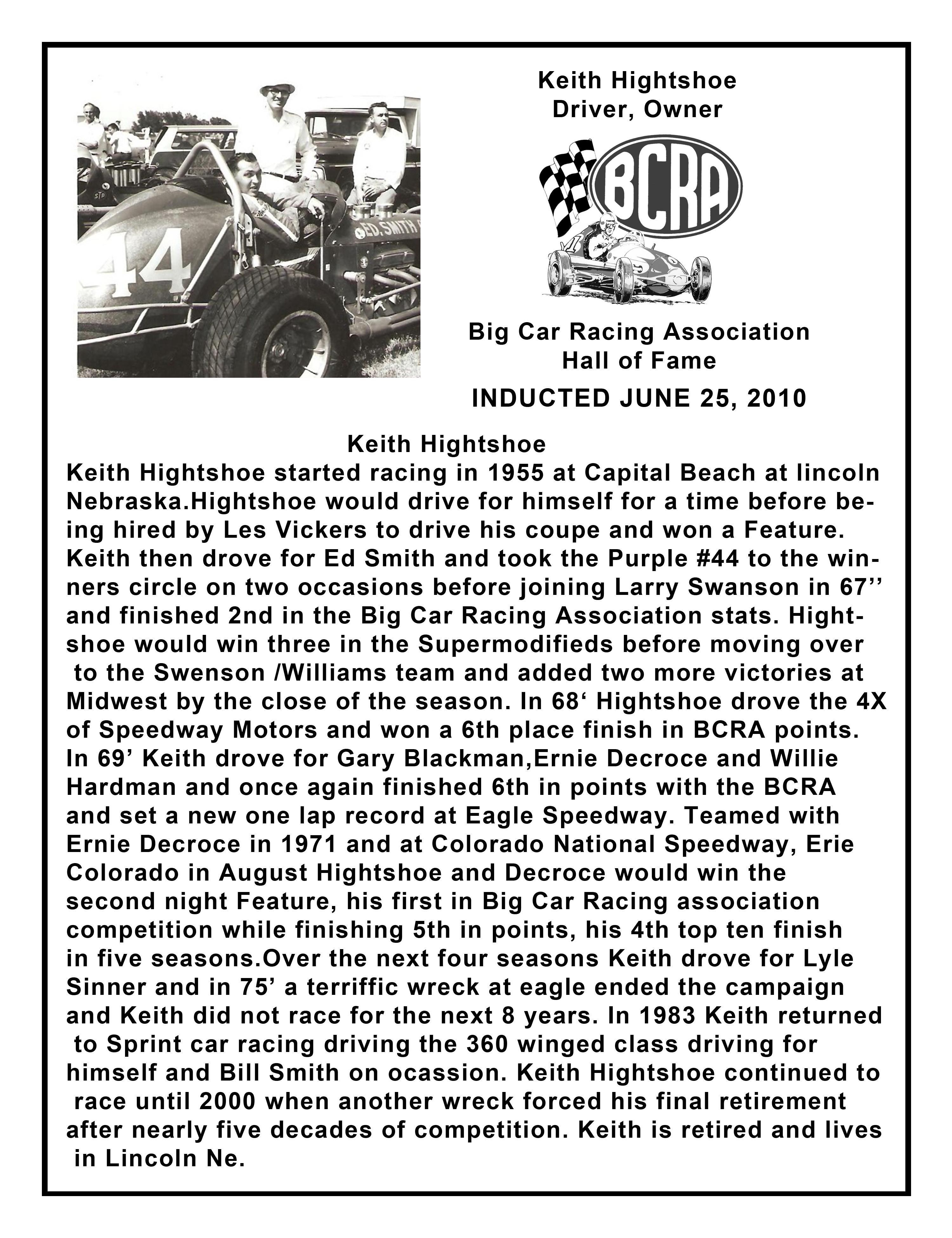 Keith Hightshoe plaque copy