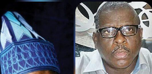 A collage of Senator Ibikunle Amosun, and Late Senator Buruji Kashamu