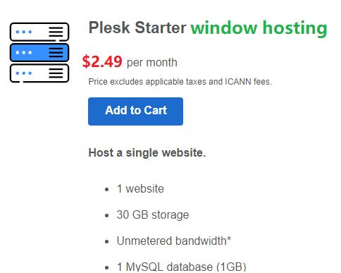 Plesk window hosting