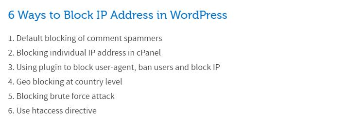 how to block IP address not view my website WordPress plugin