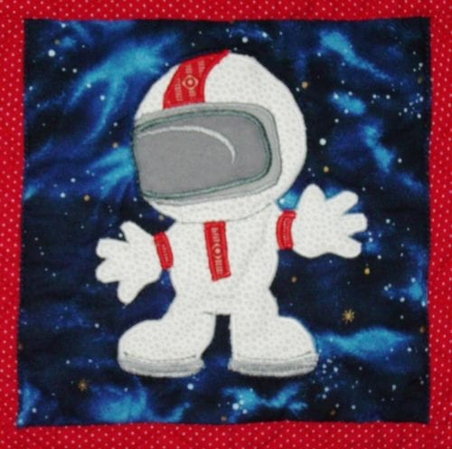 astronaut applique block