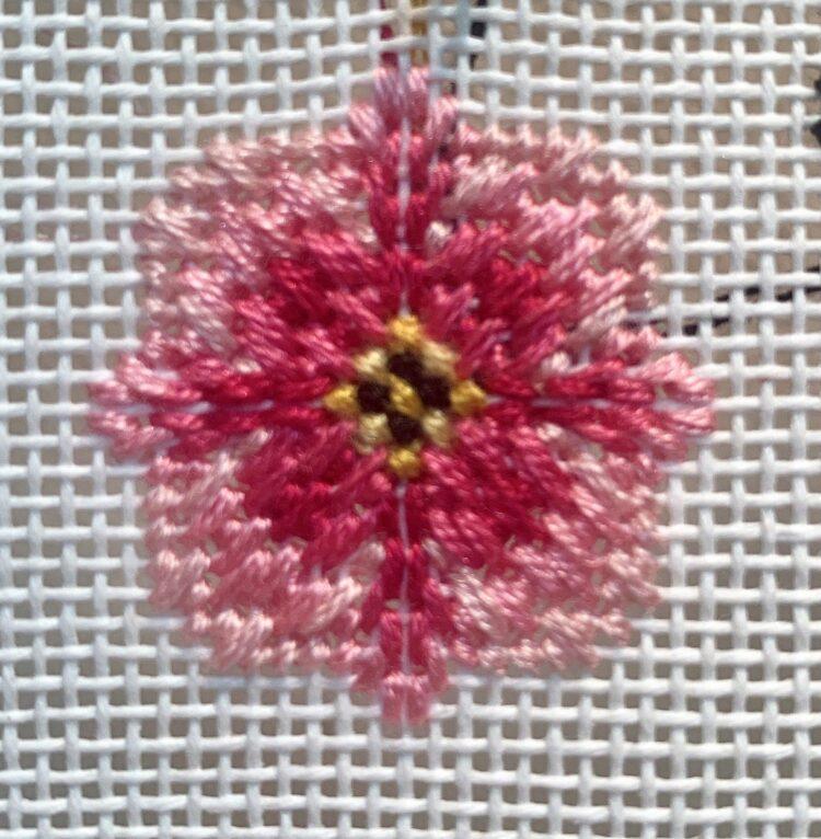 English Rose Needlepoint Stitch Graph