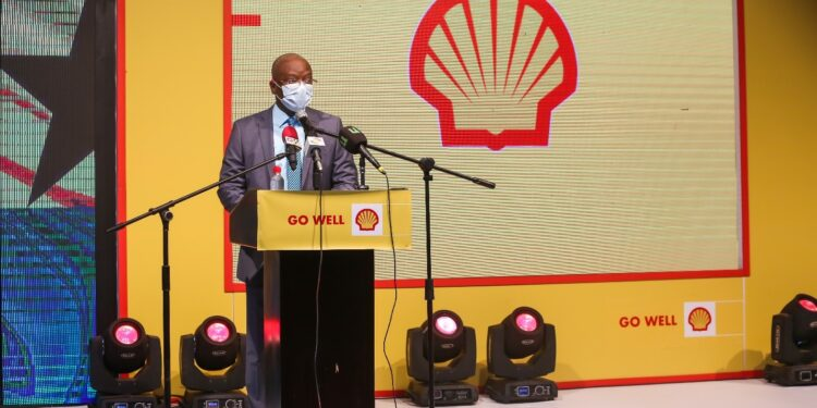 Managing Director of Vivo Energy Ghana Ben Hassan Ouattara speaking at the launch of the new Shell fuels with Dynaflex Technology