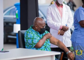 Akuffo-Addo being vaccinated