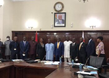 Speaker of Parliament, Alban Kingsford Sumana Bagbin with Parliamentary Service Board