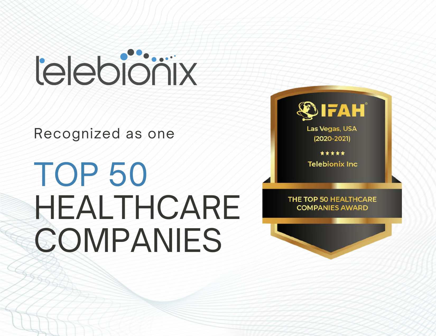 Telebionix Recognize in Top 50 Healthcare Companies by IFAH