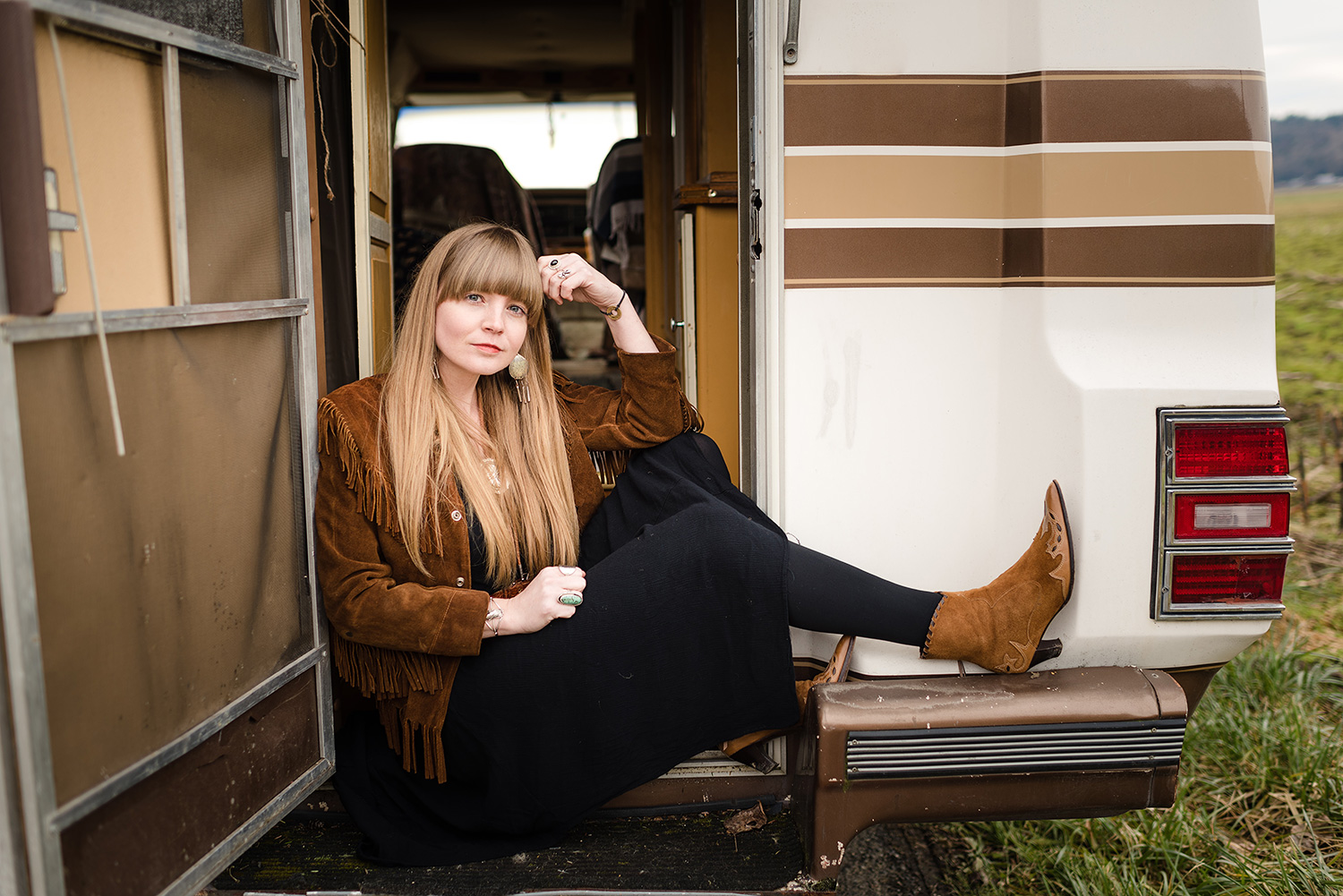 Portrait of Country music singer and songwriter Courtney Marie Andrews for Put the Fire Out, by Andy Shepard Photography