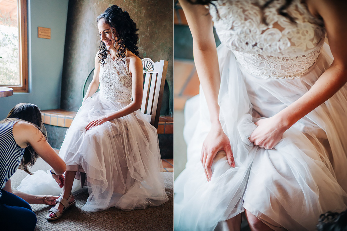 Bride getting ready at Tanque Verde Ranch in Tucson