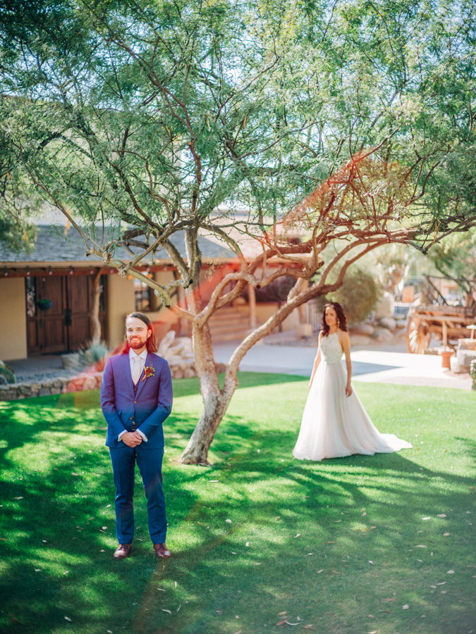 First look at wedding at Tanque verde ranch in Tucson, Arizona